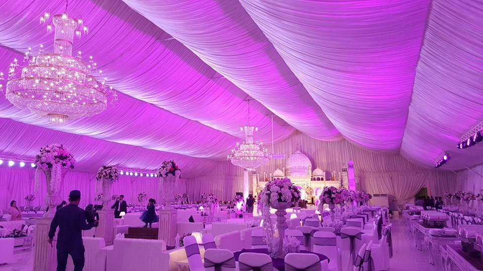 Taj Mahal Wedding Setup at Serene Marque lahore